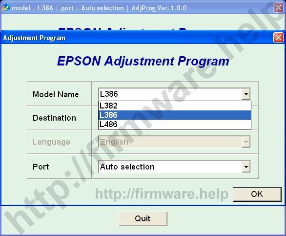 Epson L382, L386, L486 Adjustment Program | Fix Firmware