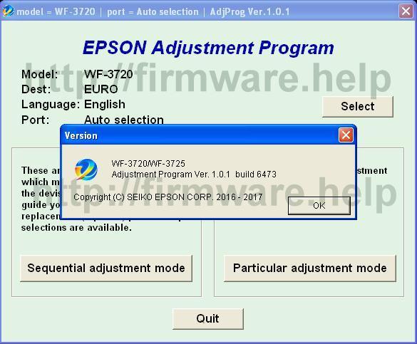 Запускаем программу, для выбора модели принтера и порта, нажимаем select