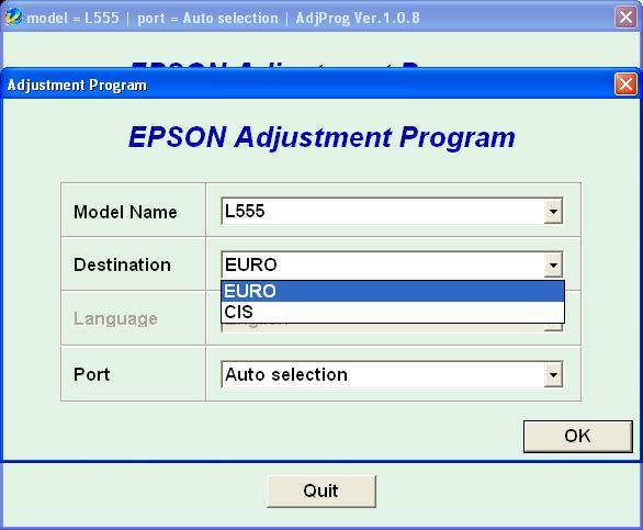 Adjustment Program Epson L355 скачать