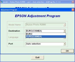 Epson R2880 Adjustment Program
