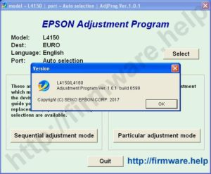 [Epson L4150, L4160 Adjustment Program]